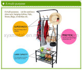 금속 Hat와 Coat Clothes Shoes 홀 Steel Pipe Stands Hanger Shelf Stand Rack