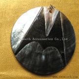 Os botões de retenção de bricolage moda jóias pingente de casca preta natural do Acessório