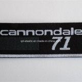 1.5inch de Polyester Spandex van het Ontwerp van het Embleem van de douane borduurde Elastiek
