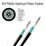 Cable Luz-Acorazado trenzado GYTS de fibra óptica del tubo flojo del cable