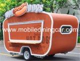 Remorque mobile extérieure de concession de nourriture de café avec la vente d'ennemi de roues