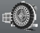 4 оси универсальный фрезерный станок с ЧПУ, головка может быть работоспособной (EV1060M)