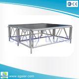 Haltbares Aluminiumstadium mit der justierbaren Höhe verwendet für Innenleistungs-im Freienhochzeits-Stadium