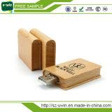Disco istantaneo del USB del libro di legno dell'OEM 4GB