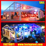 De het transparante Dak van pvc en Tent van de Markttent van de Partij van het Huwelijk van de Zijgevel