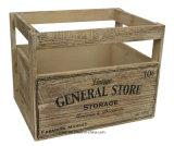 Vintage rústico vieja caja de madera elegante Cuadro Apple