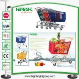 Venda por grosso de plástico de supermercado Carrinho de Compras carrinho de mão