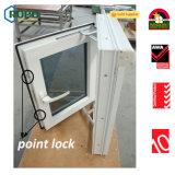Kurbelgehäuse-Belüftung UPVC Plastikdoppelverglasung-Flügelfenster-Fenster