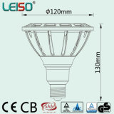 Dimmable 18W 90/98ra Scob 반사체 1600lm LED PAR38 스포트라이트