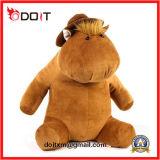 L'ippopotamo di seduta sveglio della peluche molle eccellente farcito scherza il giocattolo con il cappello