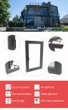 Aluminio personalizado Casement ventana con doble acristalamiento