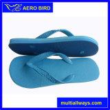 簡単な様式の純粋で青い偶然の人浜のサンダル