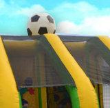 Corte gonfiabile del blocco per grafici di calcio di gioco del calcio dei due portelli per fucilazione
