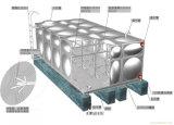 L'agriculture en acier inoxydable réservoir d'eau de traitement de l'eau