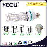 온난한 백색 Aluminum&Glass LED 옥수수 전구 3W/7W/9W/16W/23W/36W