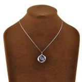 Halsband van de Tegenhanger van het Kristal Amythyst van de Legering van het Metaal van de Toebehoren van meisjes de Vierkante