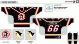 Customized Homens Mulheres Crianças Liga de Hóquei Americana Wilkes-Barrescranton pinguins 1999-2001 Hóquei no Gelo Jersey