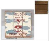 Hangen van de Muur van de Koffie van de Staaf van de Decoratie van de Opslag van de kleding het Houten voor Decoratie