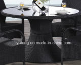 Outdoor Garden Furniture Dining Set Round Table Knockdown com cadeira (YT267-1)