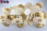 A fábrica de China fêz a luxuoso o brinquedo de encontro branco do cão do bebê com orelha e coração cor-de-rosa descansar Bos1191