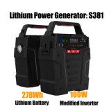 100W inversor do gerador de energia solar 278 Wh Bateria de lítio para utilização em casa