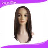 100% Kanekalon Synthetic Lace Front peruca para mulher negra (LW-028)