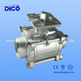 Ts 3 Pieces Ball Valve with Socket Welding End