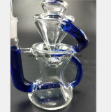 Pipe en verre de 7.48 pouces pour le tabac de filtre réutilisant le boyau