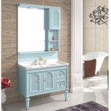 1000мм ПВХ туалетный столик в ванной комнате кабинета в белом глянцевом корпусе