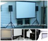 blanc mat de trépied d'étage de pouce 80X80 d'écran debout de projecteur