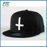 boné de beisebol 100% feito sob encomenda do algodão do chapéu do Snapback do logotipo do bordado 3D