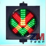 Cruz Roja y la flecha verde la luz indicadora de Carril