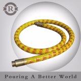 100mm Pompe à béton flexible en caoutchouc, le fournisseur de béton flexible d'extrémité en caoutchouc de la pompe