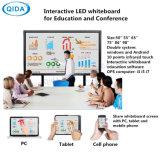 Tocco Android Whiteboard elettronico interattivo del calcolatore della lampadina OPS dell'affissione a cristalli liquidi LED per formazione astuta di Interacitve