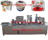 ヨーグルトのプラスチックコップの詰物およびシーリング機械