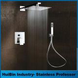 Badezimmer-Luxuxregen-Dusche-kombinierte Sets, Starbath Niederschlag-Dusche-Kopf-System an der Wand befestigt mit Dusche der Hand3-setting und Regen-Dusche-Kopf komplett, PolierChr