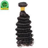 Spitzenverkaufs-indisches Menschenhaar-natürlicher schwarzer Jungfrau-Haar-Einschlagfaden