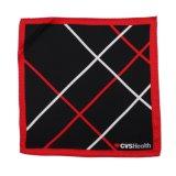 Классического белого цвета красный полосатый чистого шелка печати логотип Шарфа