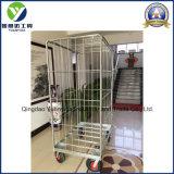 cages 10 '' conteneurs de roulis de roue de gaz/chariots/roulis galvanisés à main