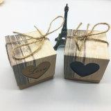 Rústico Vintage Vintage romántico Corazón Caja de caramelos de papel kraft con bolsa de regalos de boda favores y parte de suministros de boda