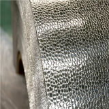 Pebble em relevo a folha de alumínio