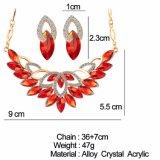 La joyería cristalina de la flor de 3 colores fija a mujeres del partido africanas