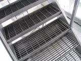 En el exterior Rejilla de acero galvanizado peldaños de escalera