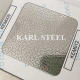 201 Edelstahl-Kem012 geprägtes Blatt für Dekoration-Materialien