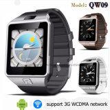 reloj elegante de 3G WiFi con Bluetooth y la tarjeta de SIM (QW09)