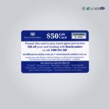 Impression offset Glitter la carte de membre de PVC en plastique