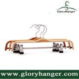 De Hanger van het Triplex van drie Kleur, de Kleerhanger van de Hanger van de Broek Met Staaf