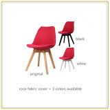 Домашние стулы с чехлом из материи Rose и первоначально деревянными ногами