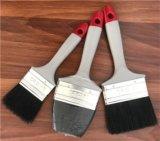 100%の純粋な木のハンドルのサイズ15mm、25mm、35mm、50mm、60mmの黒い剛毛のペンキチップブラシ5set