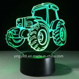 주문 3D 밤 빛 7 색깔 변경 LED 아크릴 책상 테이블 빛 램프